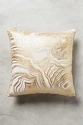 """Gleaming Rings Pillow - Ivory - 18"""" x 18"""" - Polyfill - Anthropologie"""