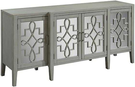 Clover Mirrored Cabinet - Grey - Home Depot