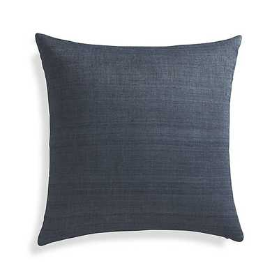 "Michaela Dusk Blue 20"" Pillow with Feather-Down Insert - Crate and Barrel"