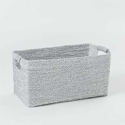 Metallic Woven Console Basket - West Elm