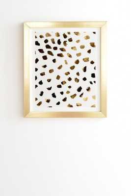 "GOLD V03 Framed Wall Art - 11"" x 13"" - Basic Gold Frame - With mat - Wander Print Co."