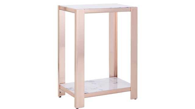 Via marble side table - CB2