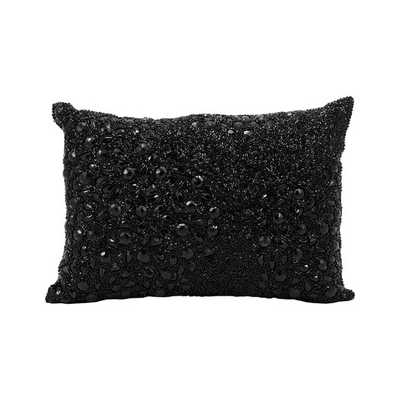 """Luminescence Lumbar Pillow - Black - 10"""" H x 14"""" W x 0.2"""" D - Polyester Insert - AllModern"""