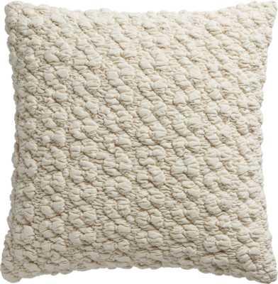"Gravel ivory 18"" pillow with down-alternative insert - CB2"