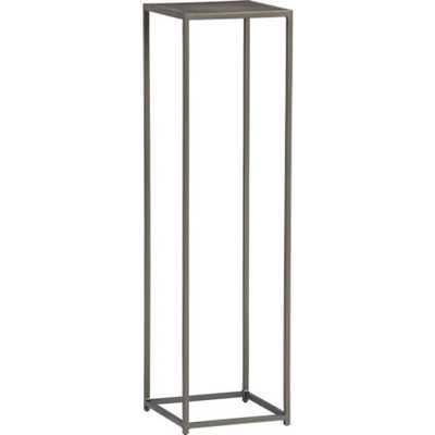 Mill tall pedestal table. - CB2