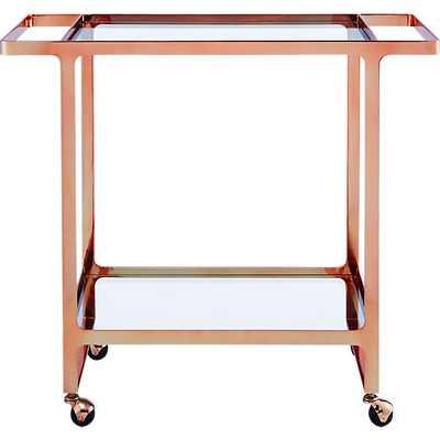 Dolce vita copper bar cart - CB2