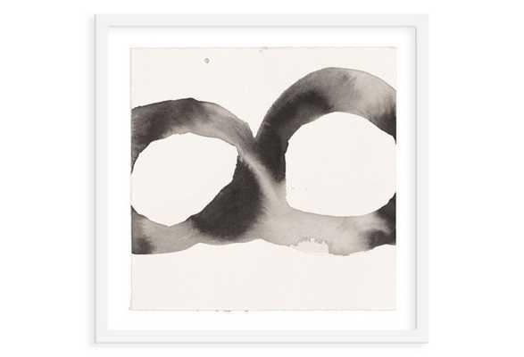 "Jen Garrido, Black & White Loop II - 22"" x 22"" - White frame - One Kings Lane"