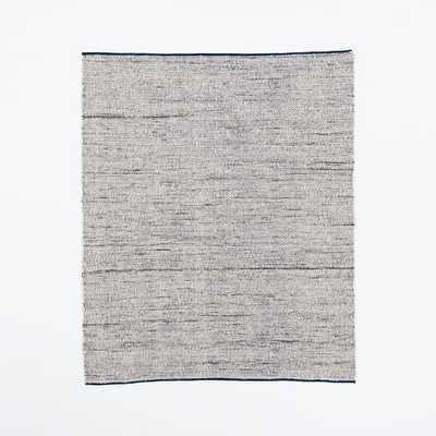 Plain Weave Sweater Wool Rug, 8'x10', Midnight - West Elm