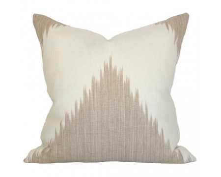 Mirasol Linen Pillow - 17x17 - Beige/Ivory - Insert Sold Separately - Arianna Belle