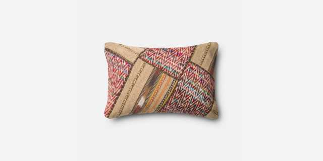 """P0292 Multi - 13"""" x 21"""" Pillow Cover with Poly Insert - Loma Threads"""