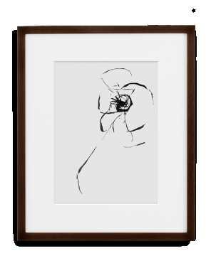 Frame - Art Print. 11x14 black gallery frame, full bleed, wire - Simply Framed