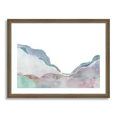 Minted for west elm - Terrain No. 2 - 21x17, Framed - West Elm