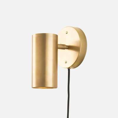 Eduard Plug-In Sconce-Natural Brass - Schoolhouse Electric