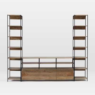 Industrial Modular Large Media Set w/ Bookshelves - West Elm