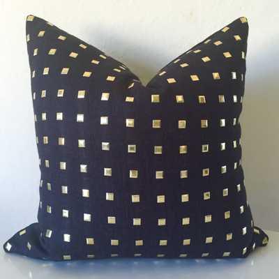 "Studs Pillow Cover - Black, 12"" x 19"" (No Insert) - Willa Skye"