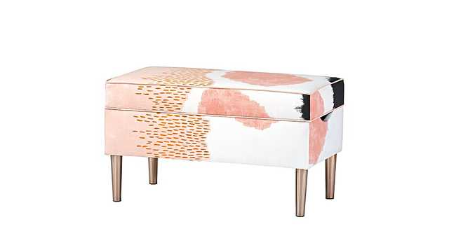 Upholstered Storage Bench - Land of Nod