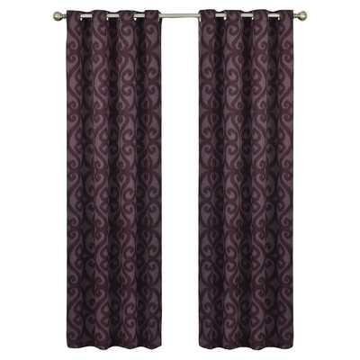 "Payater Window Single Curtain Panel, Aubergine - 84"" L x 52"" W - Wayfair"