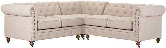 GORDON SECTIONAL SOFA - Natural Linen - Home Decorators