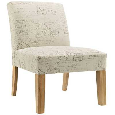 AUTEUR FABRIC SIDE CHAIR IN WHITE - Modway Furniture