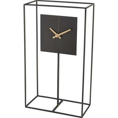 Clock tower mantel table clock - CB2