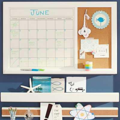 White Dry Erase Calendar Corkboard - Pottery Barn Teen