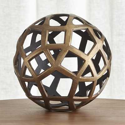 Geo Large Decorative Metal Ball - Crate and Barrel