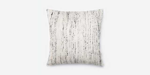"""P0242 Silver / Multi Pillow - 22"""" x 22"""" with Poly Insert - Loma Threads"""