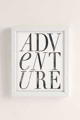 """Chloe Vaux Adventure Art Print - 18"""" x 24"""" - White wood frame without mat - Urban Outfitters"""