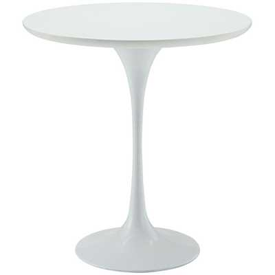"""LIPPA 20"""" WOOD SIDE TABLE IN WHITE - Modway Furniture"""