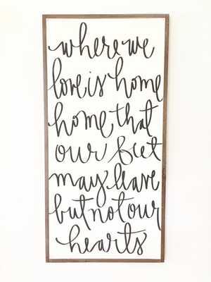 Where We Love - Aedriel - white / black, white frame - Etsy