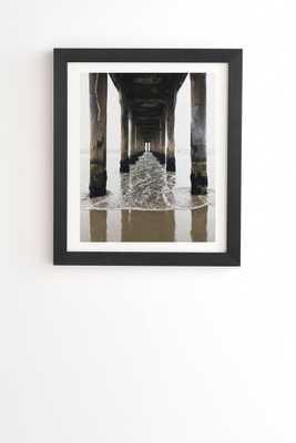 """MANHATTAN PIER Framed Wall Art - 14""""x16.5"""" - Black Frame - Wander Print Co."""