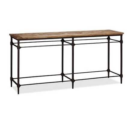 Parquet Reclaimed Wood Console Table - Pottery Barn