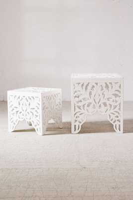 Sienna Carved Side Table - Set of 2 - Urban Outfitters