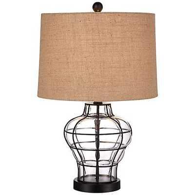 Croyton Framed Blown Glass Table Lamp - Lamps Plus