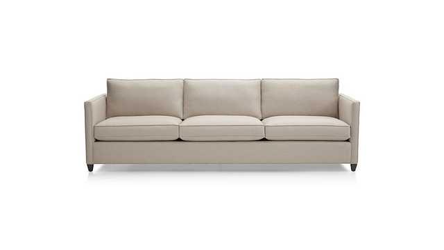 """Dryden 3-Seat 103"""" Grande Sofa - Flax - Crate and Barrel"""