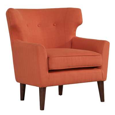 Rust Orange Mid-century Wing Chair - Overstock