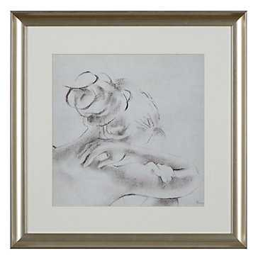 Harmony 1 - 21.25''W x 21.25''H - Framed (Silver) with Mat - Z Gallerie