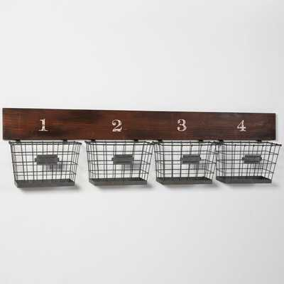 Wood And Wire Wall Multi Basket - Pottery Barn Teen