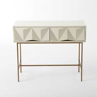 Sculpted Geo Console - Parchment - West Elm