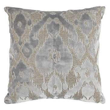 "Cadiz Pillow 24"" - Grey - Feather insert - Z Gallerie"