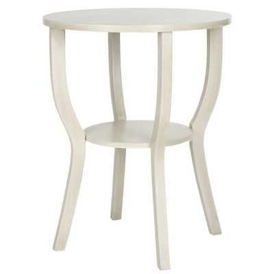North De Land End Table - White Washed - Wayfair