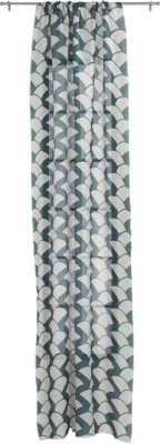"Brady blue-green curtain panel 48""x84"" - CB2"