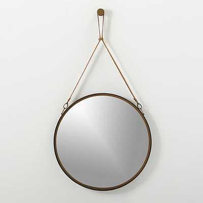 Victor leather mirror - CB2