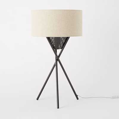 Mid-Century Tripod Table Lamp - Antique Bronze - West Elm