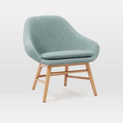Mylo Chair - Eucalyptus - Eucalyptus, Heathered Weave, (Natural Oak Legs) - West Elm
