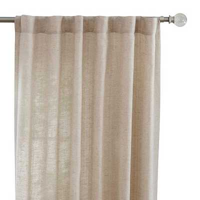 """Faux Linen Back Tab Curtain Panel - Taupe - 95""""H - Home Depot"""