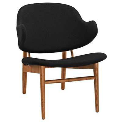 SUFFUSE LOUNGE CHAIR IN MAPLE BLACK - Modway Furniture