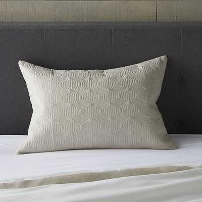 "Bianca Natural 24""x16"" Lumbar Pillow with Down Alternative Insert - Crate and Barrel"