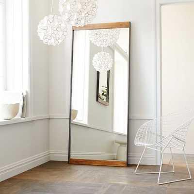 Metal + Wood Floor Mirror - West Elm