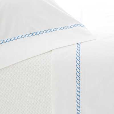 HELIX FRENCH BLUE FLAT SHEET-Queen - Pine Cone Hill